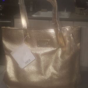 Michael Kors Gold Shimmery Tote
